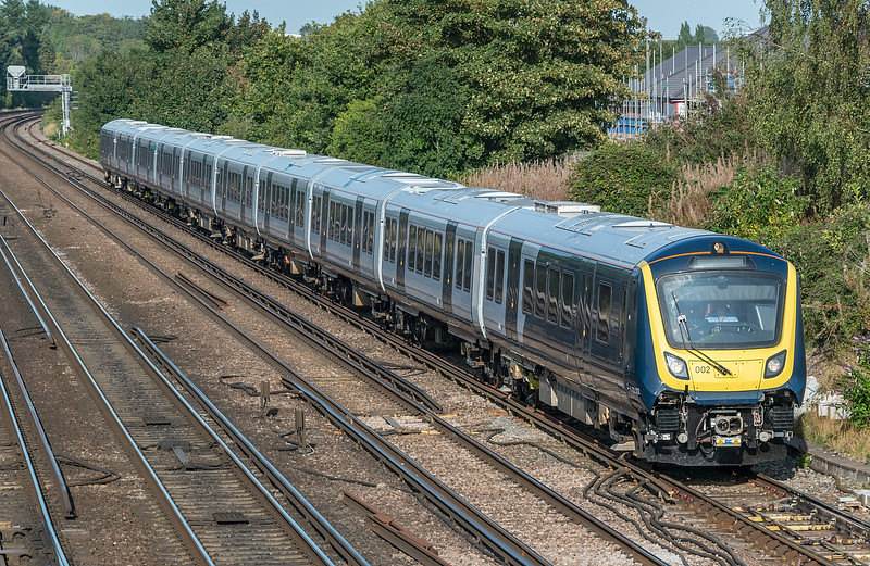 701002 Worting Junction 17 September 2020 returning to Eastleigh with 5Q35