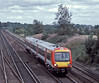 The 'odd' SWT Class 170, 170392, passes Worting Junction with a Reading to Brighton service on 20 August 2004