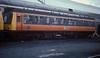 Class 107 DMCL SC52034 undergoes maintenance at Ayr on 10 November 1985
