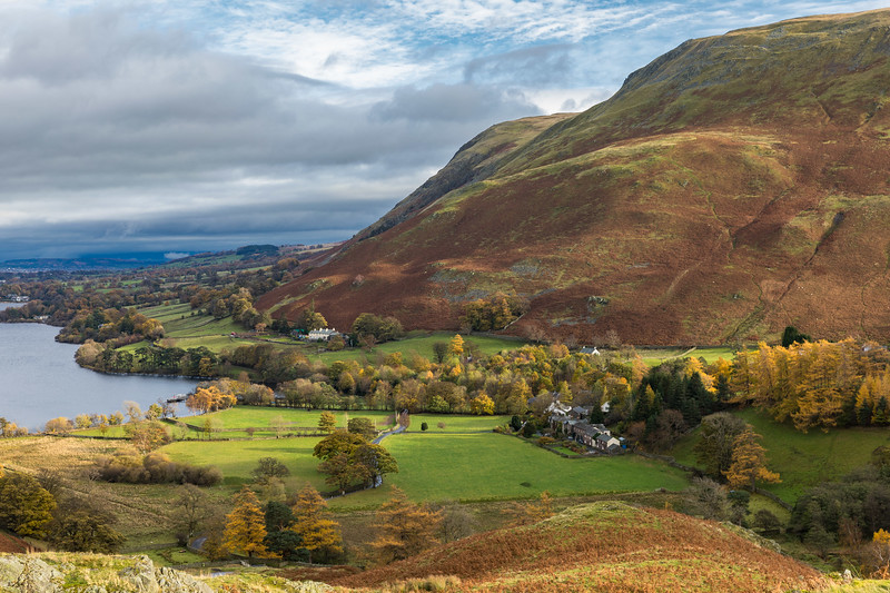 View from Steel Knotts over Howtown & Ullswater