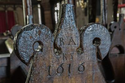 St Andrew - Slaidburn 17th century pews