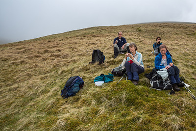 Coffee break on the ascent of Helvellyn