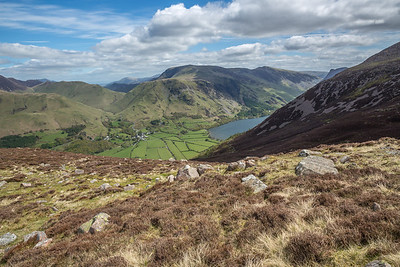 Looking down on Buttermere village