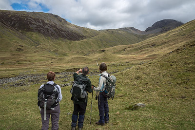Looking back to the ridge with Green Gable & Great Gable on the skyline