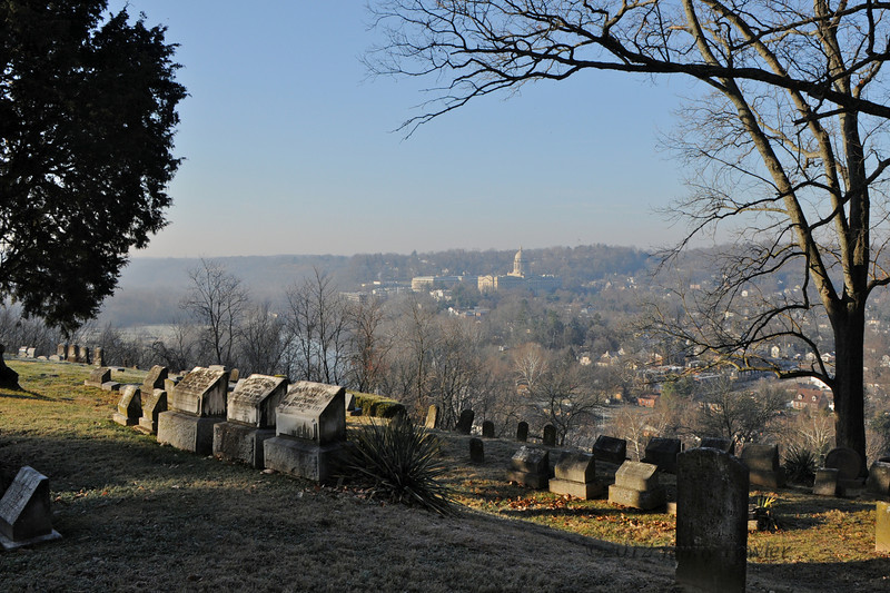Overlook of Capitol from the Frankfort Cemetary