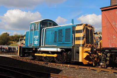 2) 07 013 at Barrow Hill on 22nd September 2012
