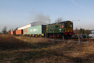 3)  09 002 at Barton Dock Estate on 7th February 2012
