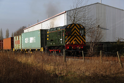 2) 09 002 at Barton Dock Estate on 7th February 2012