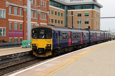 3) 150 002 at Reading on 8th June 2016