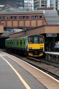 1) 150 009 at Birmingham Moor Street on 7th May 2011 working 2C46 1425 Stourbridge Junction to Dorridge