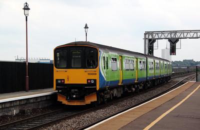 3) 150 009 at Birmingham Moor Street on 7th May 2011 working 2C46 1425 Stourbridge Junction to Dorridge