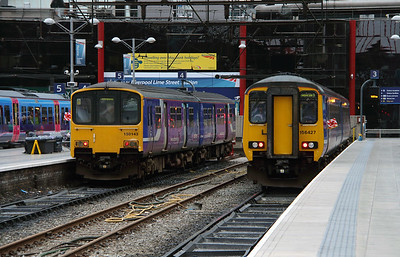 150 143 & 156 427 at Liverpool Lime Street on 19th May 2015 (3)