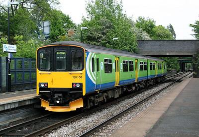 2) 150 108 at Smethwick Galton Bridge HL on 7th May 2011 working 2C52 1525 Stourbridge Junction to Dorridge