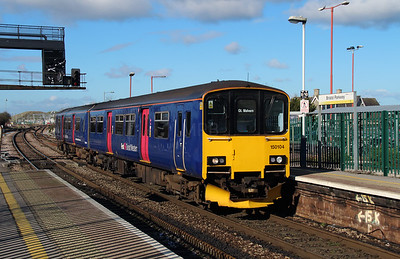 150 104 at Bristol Parkway on 23rd February 2016 working 2M97