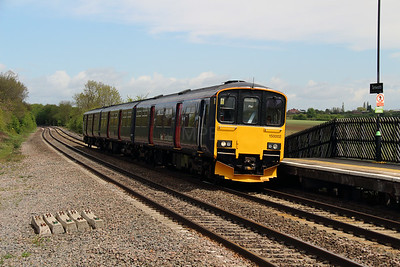 1) 150 002 at Tamworth High Level on 13th May 2013 working 5V99 1030 BRUSH Loughborough to Reading Depot
