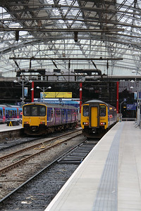 150 143 & 156 427 at Liverpool Lime Street on 19th May 2015 (4)