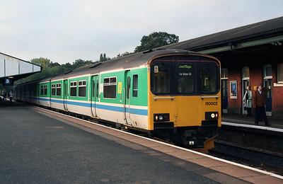 150 002 at Stourbridge Junction on 17th October 2005