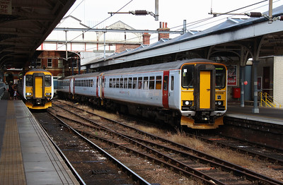 156402 & 153306 at Norwich on 9th August 2016