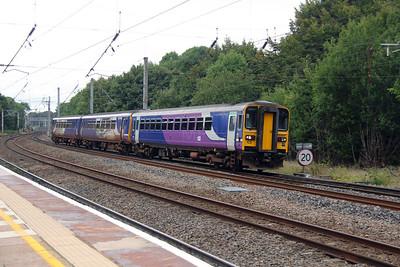 153 307 at Lancaster on 5th September 2016