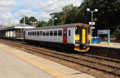 1) 153306 at Norwich on 9th August 2016