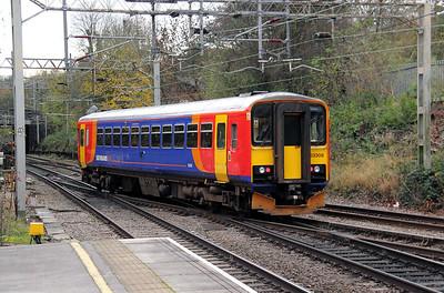 153 308 at Kidsgrove on 10th November 2010