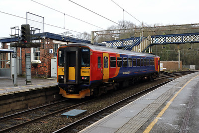153311 at Kidsgrove on 24th January 2017
