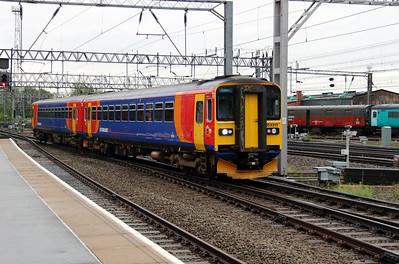 153 310 at Crewe on 28th May 2014