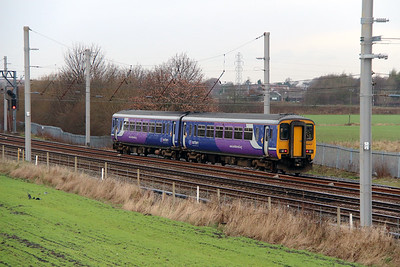 156 487 at Winwick Junction on 19th December 2013 working 2F23 1122 Warrington Bank Quay to Liverpool Lime Street