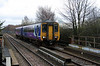 1) 156 455 at St Helens Junction on 15th January 2014