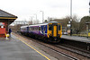 1) 156 472 at St Helens Junction on 15th January 2014 working 2F23