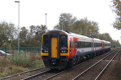 158 780 at Widnes on 25th October 2014 (2)