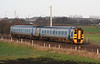 158 834 at Winwick Junction on 16th December 2005