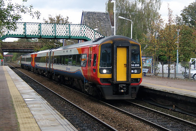 158 856 at Widnes on 25th October 2014 (2)