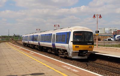 165 020 at Tyseley on 3rd June 2013 working 2R26 1232 Leamington Spa to Birmingham Moor Street