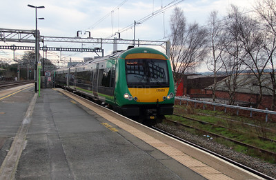 2) 170 501 at Rugeley Trent Valley on 28th December 2015