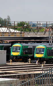 170 635 & 170 630 at Tyseley on 3rd June 2013