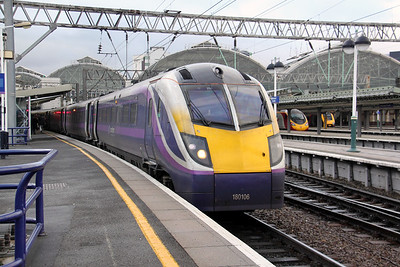 180 106 at Manchester Piccadilly on 7th February 2011 working 2H08 1423 Preston to Hazel Grove