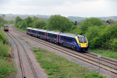 2) 180 106 at Honeybourne on 14th May 2013 working 1W21 0921 London Paddington to Worcester Forgate Street