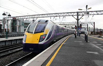 180106 at Manchester Piccadilly on 7th February 2011 working 2H08 1423 Preston to Hazel Grove