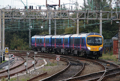 185 121 at Liverpool South Parkway on 8th October 2014