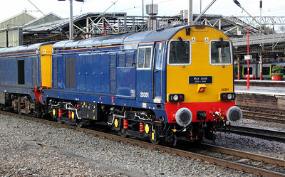 1) 20 301 at Crewe on 12th October 2011 working 0Z20 1733 Crewe to Washwood Heath