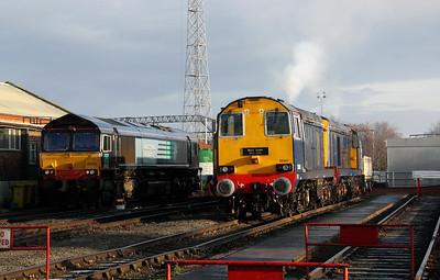 4) 20 301 at Crewe Gresty Bridge DRS Depot on 10th December 2011