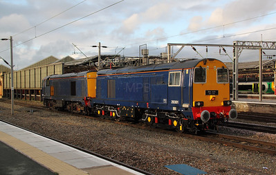 3) 20 301 at Crewe on 12th October 2011 working 0Z20 1733 Crewe to Washwood Heath