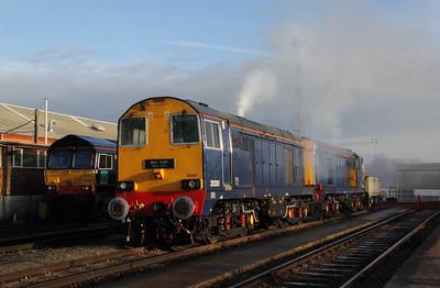 3) 20 301 at Crewe Gresty Bridge DRS Depot on 10th December 2011