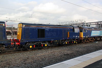 20 301 at Crewe on 12th October 2011 working 0Z57 1300 Kingmoor DRS depot to Gresty Bridge DRS Depot