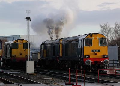 20 301 & 20 304 at Crewe Gresty Bridge DRS Depot on 10th December 2011