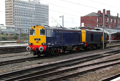 4) 20 301 at Crewe on 12th October 2011 working 0Z20 1733 Crewe to Washwood Heath
