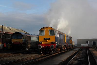 2) 20 301 at Crewe Gresty Bridge DRS Depot on 10th December 2011