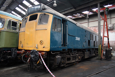 25 067 at Barrow Hill Museum on 30th June 2007