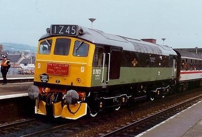 D7672 at Llandudno Junction on 30th March 1991